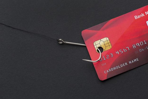 top-view-credit-card-hook-phishing